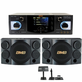 BMB CSE-310II with BMB DAS-400 600 Watts Amplifier, Speaker Cable & Wall Mount