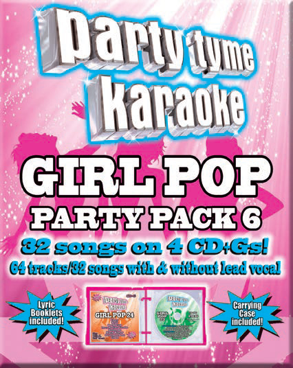 Party Tyme Karaoke CDG SYB4469 - Girl Pop Party Pack 6