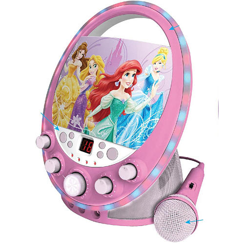 Sakar Disney Princess Party CD G Karaoke Machine With Lights