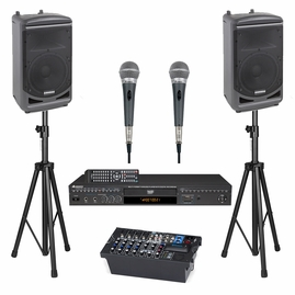 Samson Expedition XP1000 Portable PA System with Bluetooth, Acesonic DGX-220 HDMI Karaoke Player, Acesonic PX-88 Dynamic Wired Microphone and Speaker Stand