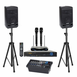 Samson Expedition XP800 + Acesonic BDK-2000 Karaoke System, 800W, Wireless Microphones