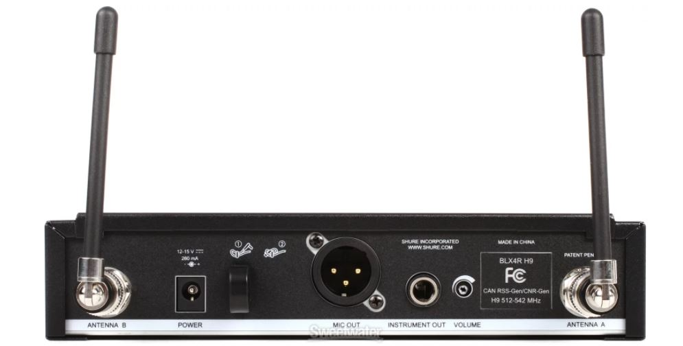 shure blx24r sm58 wireless system with sm58 microphone rackmountable receiver. Black Bedroom Furniture Sets. Home Design Ideas
