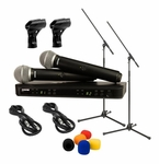 Shure BLX288/PG58 Dual Wireless System Package