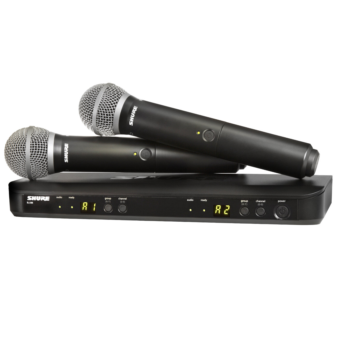 shure blx288 pg58 dual wireless system with 2 pg58 microphones. Black Bedroom Furniture Sets. Home Design Ideas