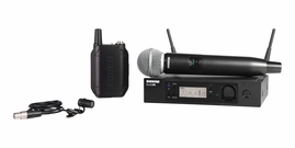 Shure GLXD124R/85 Digital Rack-Mount Handheld and Lavalier Combo Wireless System (2.4 GHz)