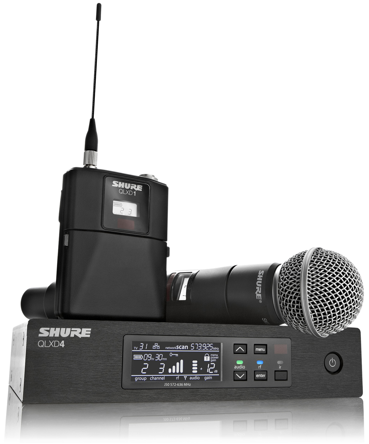 Shure Microphone System : Shure qlxd handheld lavalier wireless microphone