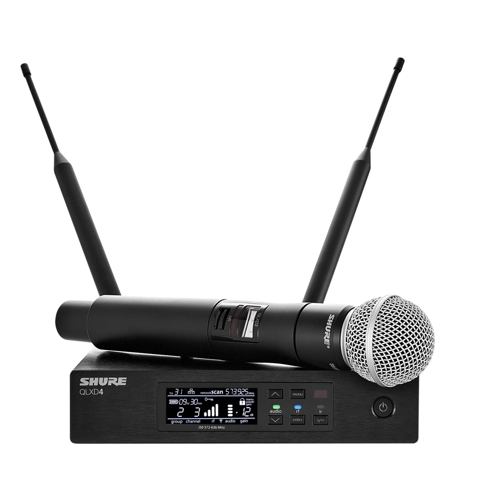 shure qlxd24 sm58 handheld wireless microphone system. Black Bedroom Furniture Sets. Home Design Ideas