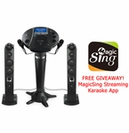 """Singing Machine ISM1030BT All-In-One Karaoke System with 7"""" LCD & Bluetooth"""