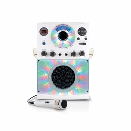 Singing Machine SML385BTW CDG Karaoke Machine (White) with Bluetooth