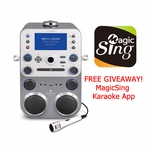 Singing Machine STVG888W CDG Karaoke All-In-One System