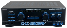 VocoPro DAX-9900RV 300 Watts Studio Grade Key Control Karaoke Amplifier with Sonic Enhancer and DSP Reverb Mixing