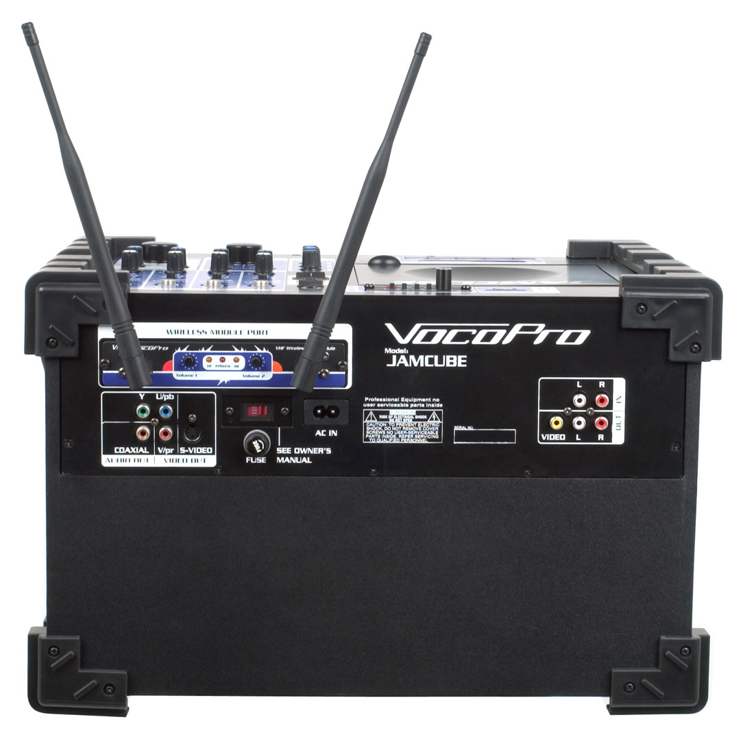 vocopro jamcube 2 100w stereo all in one mini pa entertainment system with sd recording dual. Black Bedroom Furniture Sets. Home Design Ideas