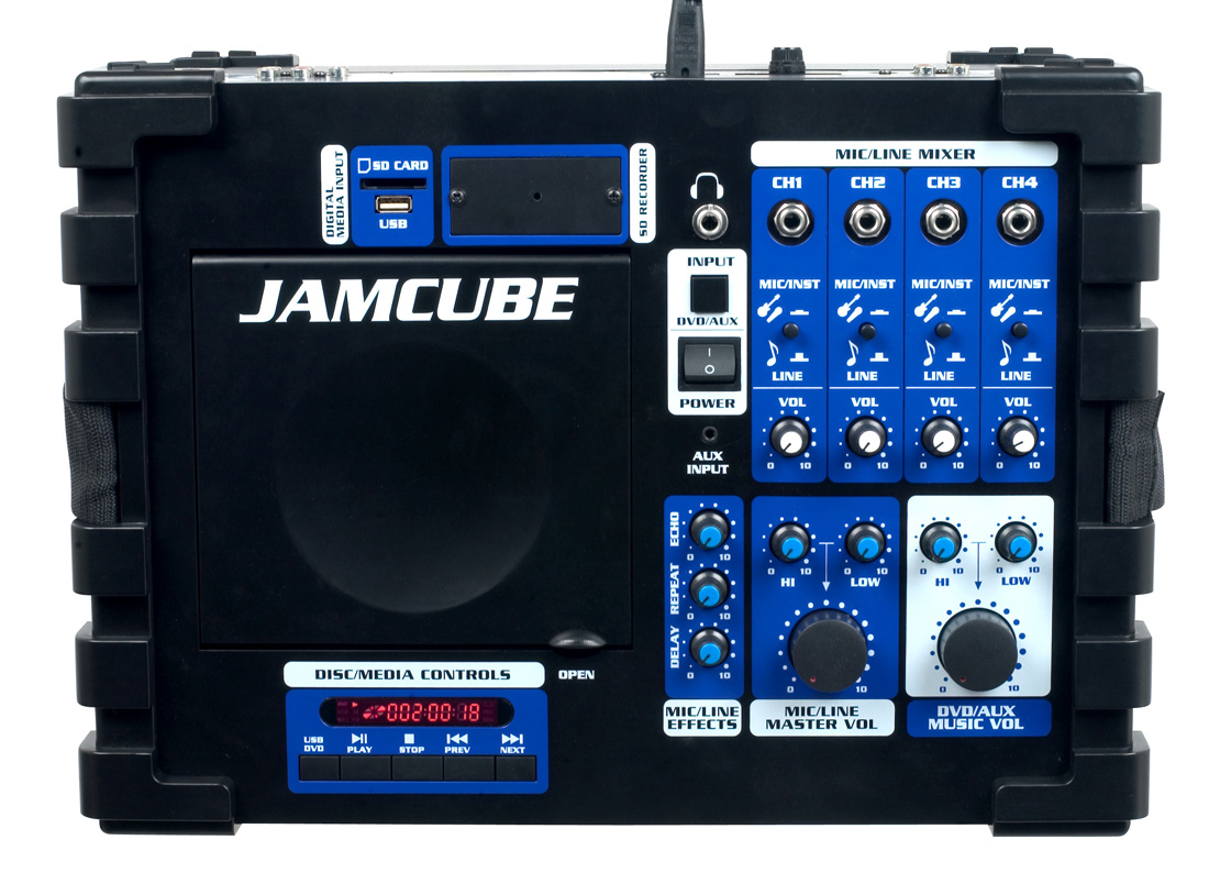 vocopro jamcube mc 100w stereo all in one pa system. Black Bedroom Furniture Sets. Home Design Ideas