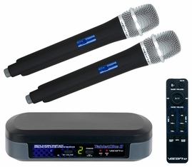 VocoPro TabletOke-II Digital Karaoke Mixer with Wireless Mics and Bluetooth Receiver