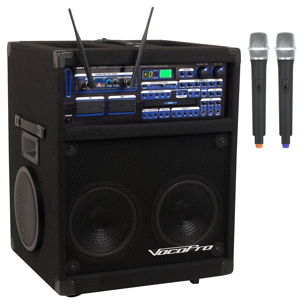 vocopro twister 7000 uhf 250w professional cd cd g karaoke system with dual uhf wireless microphones. Black Bedroom Furniture Sets. Home Design Ideas