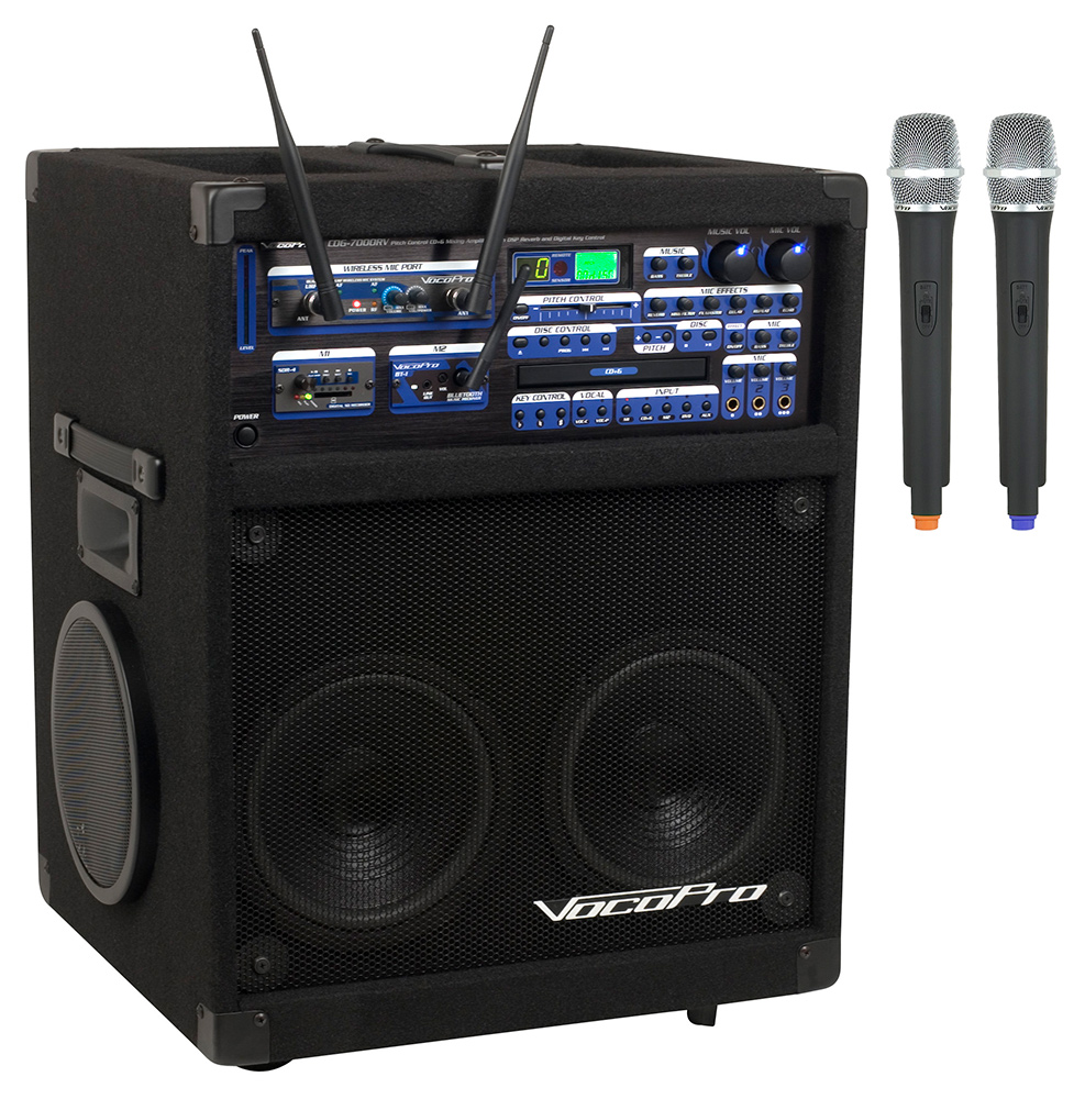 vocopro twister 7000 ultra 250w cd cdg karaoke system with sd recorder bluetooth with digital. Black Bedroom Furniture Sets. Home Design Ideas