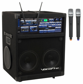 VocoPro TWISTER-7000-ULTRA 250W CD/CDG Karaoke System with SD Recorder & Bluetooth with Digital Reverb & Key Control