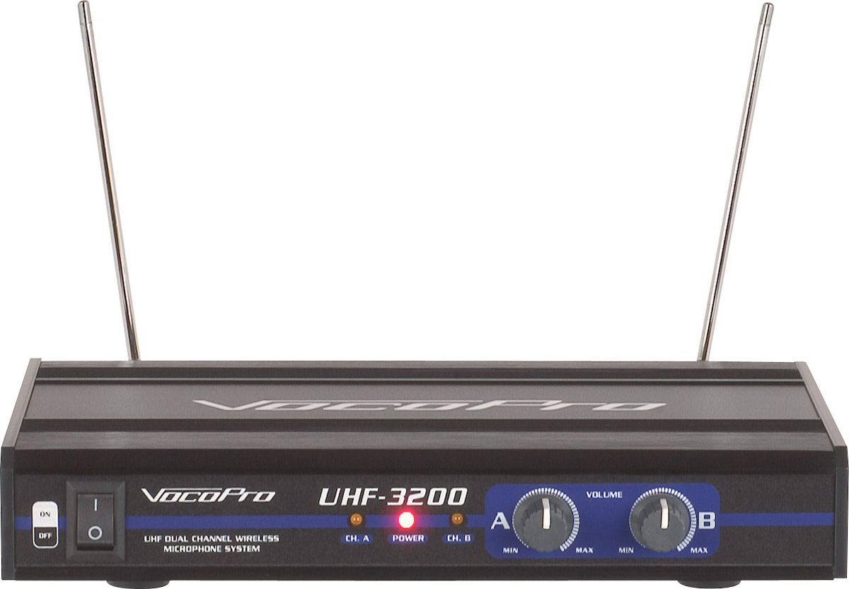 vocopro uhf 3200 dual channel wireless microphone system 900mhz. Black Bedroom Furniture Sets. Home Design Ideas