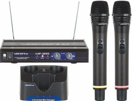 Vocopro UHF-3205 Rechargeable Dual UHF Wireless Microphone System (900MHz)