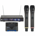 Vocopro UHF-3205 Rechargeable Dual UHF Wireless Microphone System