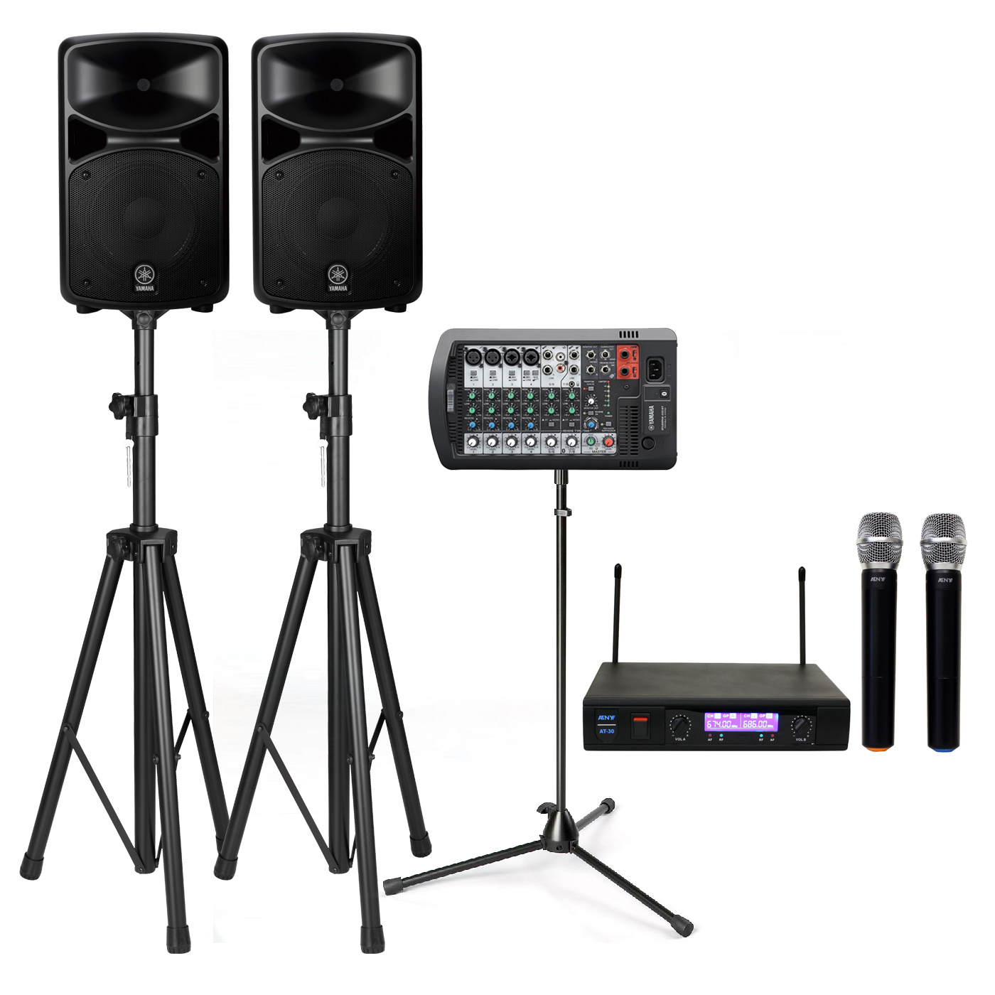yamaha stagepas 400bt 400w pa system with stands atny at. Black Bedroom Furniture Sets. Home Design Ideas