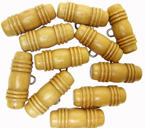 11 Vintage Wooden Toggle Buttons
