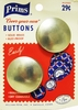 Vintage Prims Cover-Your-Own Buttons For Coats 2 Pack