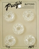 5 Vintage Clear Plastic Buttons