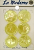 6 Vintage Pearlized Yellow Buttons