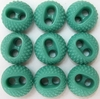 9 Turquoise Vintage Buttons