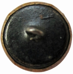 Antique Metal Picture Button w/Windmill & Tree Motif