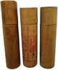 Group Of 3 Wooden Needle Tubes