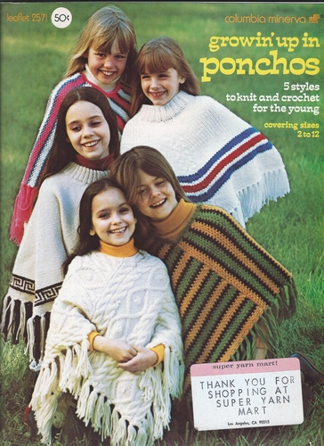 Vintage Columbia Minerva #2571 Growin' Up In Ponchos