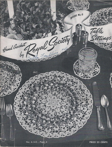 Vintage Hand Crochet by Royal Society #6 Table Settings