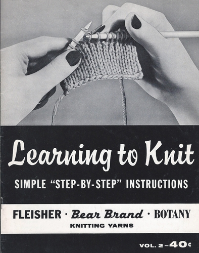 Vintage Bear Brand Learning To Knit Vol. 2