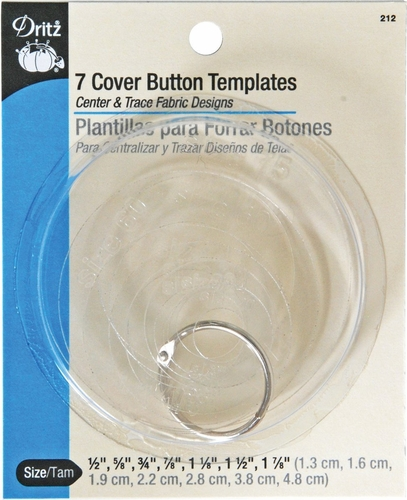 Dritz 7 Self Cover Button Templates