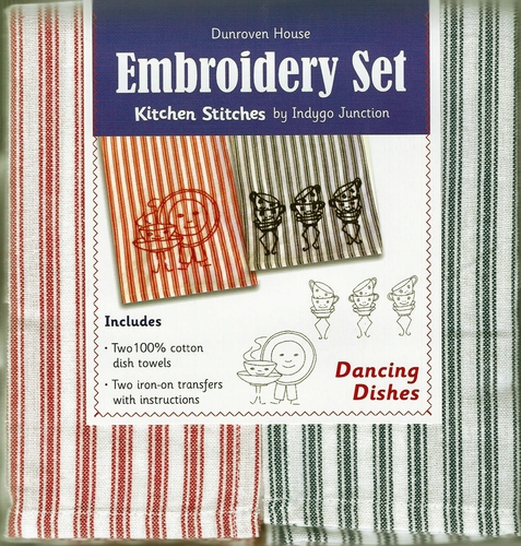 "Dunroven House  ""Dancing Dishes"" Embroidery Set"