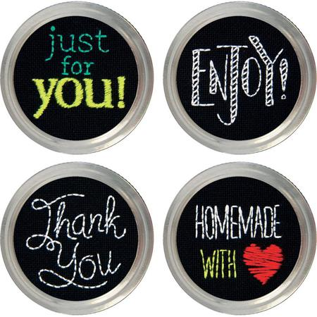 "Dimensions ""Salutations"" Jar Toppers Embroidery Set"