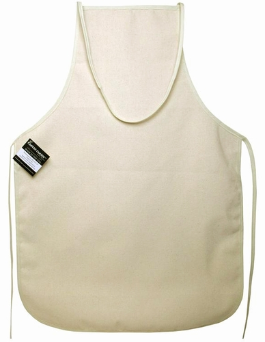 Natural Bib Apron To Embroider