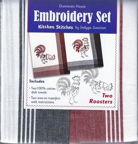 "Dunroven House  ""Two Roosters"" Embroidery Kit"