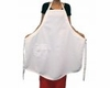"White Cotton Twill ""Retro"" Apron To Embroider"