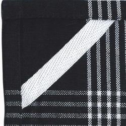 White Towel With Black Stripes To Embroider