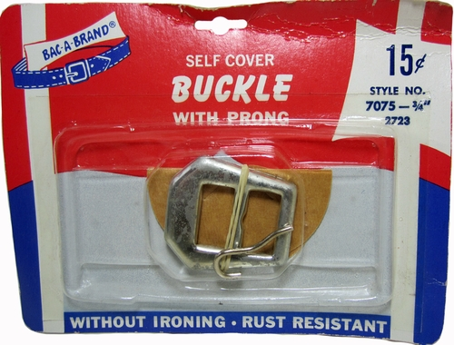 Vintage Bac-A-Brand Self Cover Buckle w/Prong