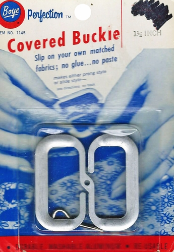 """Vintage Boye """"Perfection"""" Covered Buckle Kit w/Prong"""