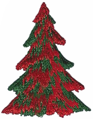 Vintage Christmas Tree Patch