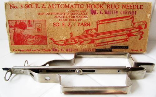 Vintage E.Z. Automatic Hook Rug Needle