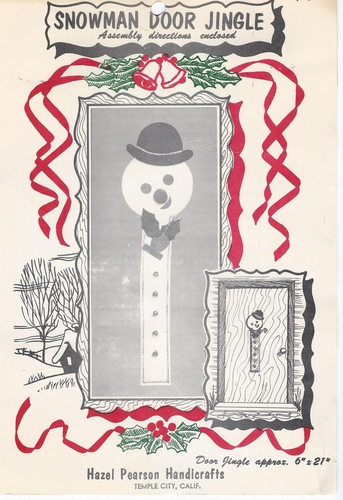 Vintage Snowman Door Jingle
