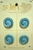 Vintage Turquoise Glass Buttons w/Gold Swirls
