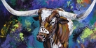 Bevo XIV Makes a Splash original painting by Robert Hurst