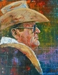 Bum Phillips autographed art print signed by Phillips
